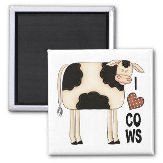 Humor Country Cow Fridge Magnet