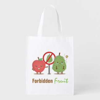 Humor, Forbidden Fruit, Apple and Durian Cartoon