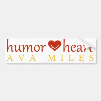 """""""Humor Heart"""" Bumper Sticker"""