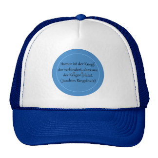 Humor is prevented the button,… hats