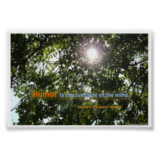 """Humor is the sunshine of the mind"" Quotation Poster"