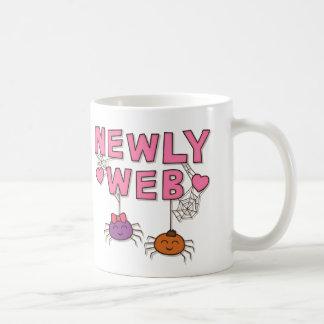 Humor Newly Web Spiders Newly Wed Basic White Mug