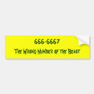Humor of the beast. bumper sticker