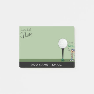 Humor Tees Me Off Golfer Post-it Notes