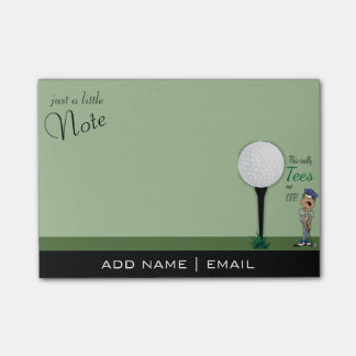 Humor Tees Me Off Golfer Post-it® Notes
