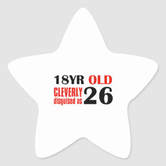 Humorous 26 year old birthday gifts star stickers