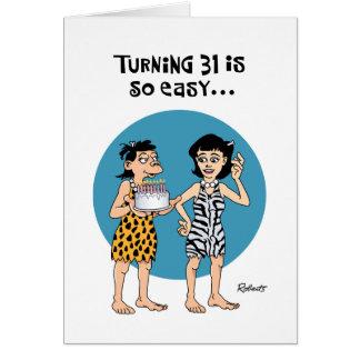 Humorous 31st Birthday Card