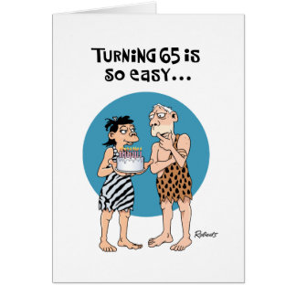 Humorous 65th Birthday Greeting Card