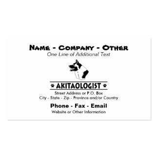Humorous Akita Double-Sided Standard Business Cards (Pack Of 100)