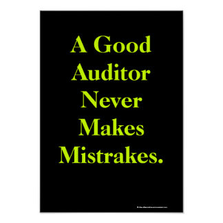 Humorous Auditor Profound Audit Quote Poster