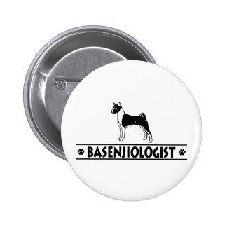 Humorous BASENJI DOG Pinback Buttons
