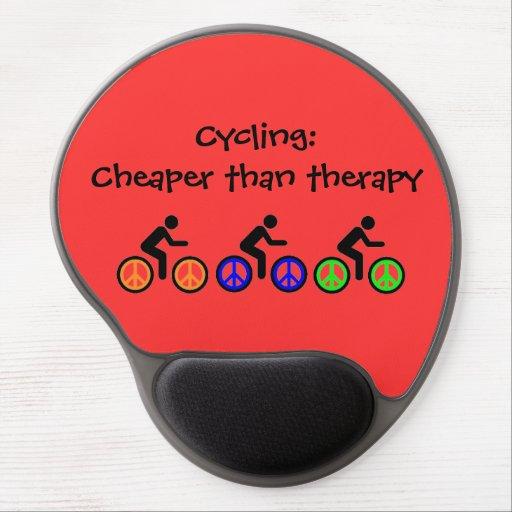 humorous biking message gel mouse mats