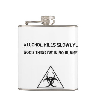 Humorous Biohazard Flask