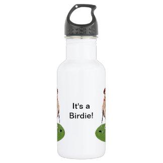 Humorous Bird Playing Golf 532 Ml Water Bottle