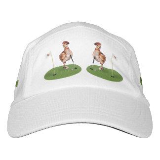 Humorous Bird Playing Golf Hat