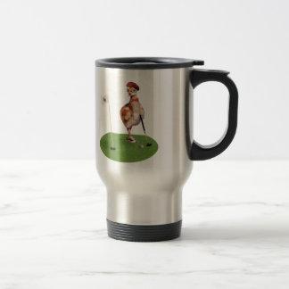 Humorous Bird Playing Golf Mug