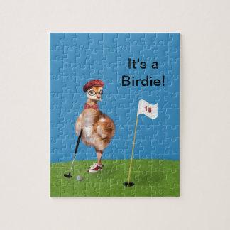 Humorous Bird Playing Golf Puzzles