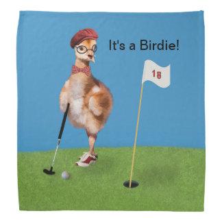 Humorous Bird Playing Golf Bandannas