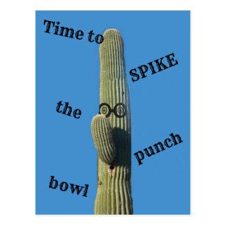 Humorous Cactus Party Postcard