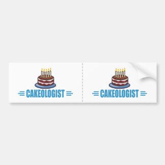 Humorous Cakeologist Baker's Bumper Sticker