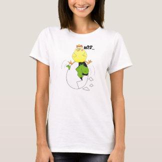 Humorous Cartoon Chicken and Dino Women's Tshirt