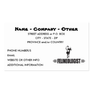 Humorous Cat Double-Sided Standard Business Cards (Pack Of 100)