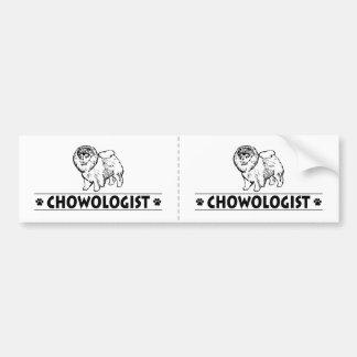 Humorous CHOW CHOW Bumper Sticker