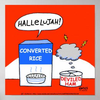 Humorous Christian Kitchen Poster