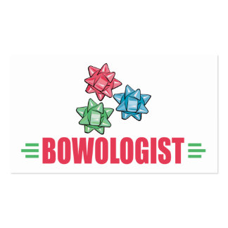Humorous Christmas Bow Business Cards