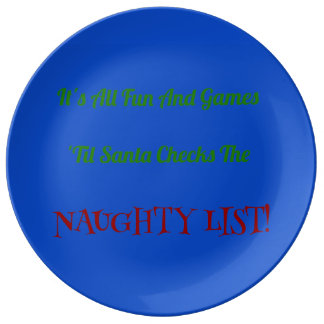 Humorous Christmas Naughty List Decorative Plate
