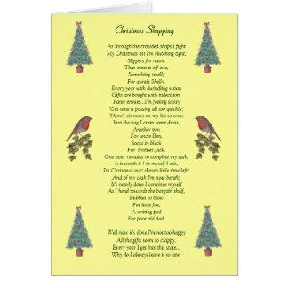 humorous christmas poem robin and xmas tree card greeting card