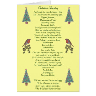 humorous christmas poem robin and xmas tree cards