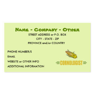 Humorous Corn Lover Pack Of Standard Business Cards