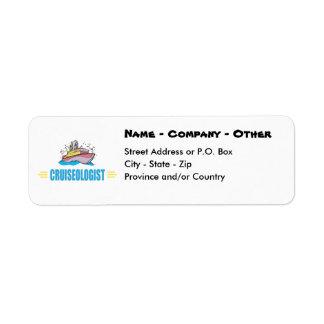 Humorous Cruise Ship Return Address Label