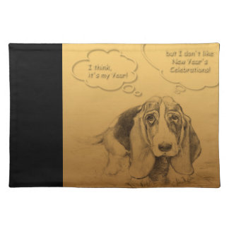 Humorous Dog Year 2018 Cloth Placemat