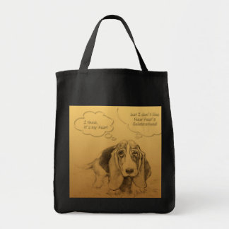 Humorous Dog Year 2018 Cotton Grocery Bag