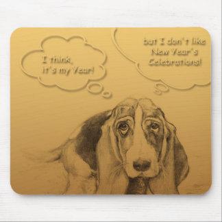 Humorous Dog Year 2018 Mousepad