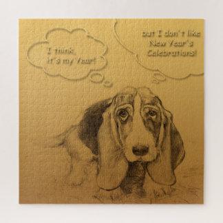 Humorous Dog Year 2018 Puzzle