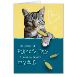 Happy fathers day cat gifts on zazzle au humorous fathers day card with naughty cat sciox Gallery
