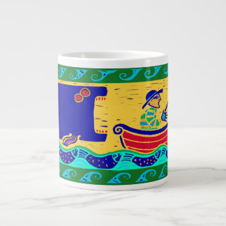 Humorous Fisherman Soup Mug