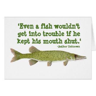 Humorous Fishing Card