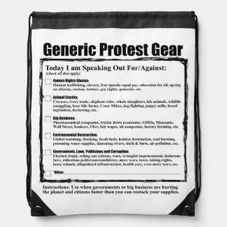 Humorous Generic Protest Gear Drawstring Backpacks