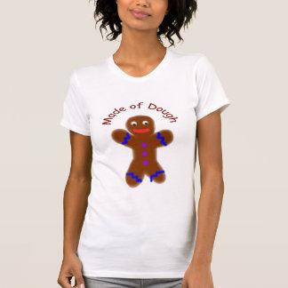 "Humorous Gingerbread Man ""Made of Dough"" T-shirt"