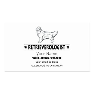 Humorous GOLDEN RETRIEVER Double-Sided Standard Business Cards (Pack Of 100)