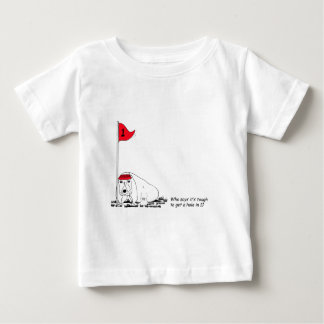 Humorous Golfing Dog Baby T-Shirt