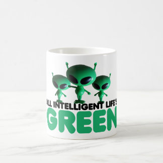 Humorous green coffee mug