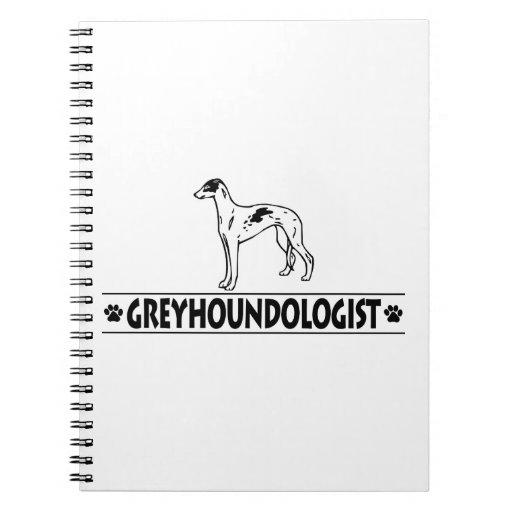 Humorous GREYHOUND DOGS Notebook