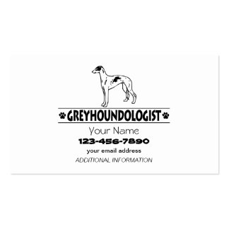 Humorous GREYHOUND DOGS Pack Of Standard Business Cards