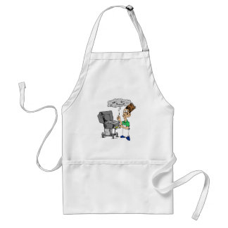 Humorous Grill Gifts Funny BBQ Cookout Barbecue Standard Apron