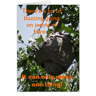 Humorous Happy Beeswax Birthday Card Greeting Card